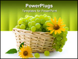 PowerPoint Template - Juicy sweet grapes, useful berry, rich in carbohydrates and vitamins