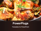 PowerPoint Template - Tasty grilled chicken with vegetable and herbs