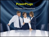 PowerPoint Template - Portrait of young business people discussing project in office environment