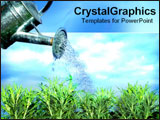 PowerPoint Template - Bucket watering grass.