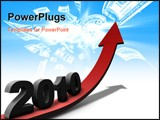 PowerPoint Template - A positive outlook on 2010. Can be used for all aspects of life