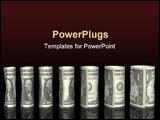 PowerPoint Template - Dollar bills chart in black background