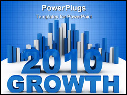 PowerPoint Template - growth success concept computer generated illustration for special design
