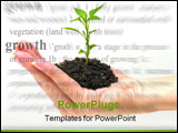 PowerPoint Template - a woman holding a growing plant