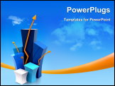 PowerPoint Template - 3d growth illustration with the sky in the background