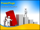 PowerPoint Template - Diagram Of Growth. 3D Image. Isolated Illustration