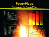 PowerPoint Template - Cashflow statement with business graph and stock chart over an