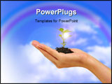 PowerPoint Template - a photo of a woman holding a growing plant