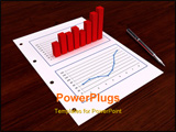 PowerPoint Template - 3d graphic sticks out from the paper