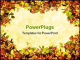 PowerPoint Template - A floral wreath forms a grunge border.