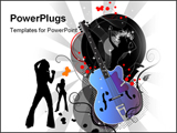 PowerPoint Template - With my guitar on my back interface design