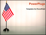 PowerPoint Template - USA flag in a American government office