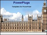 PowerPoint Template - house of parliament in London