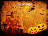 PowerPoint Template - Grunge style Halloween spooky background on old paper