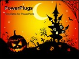 PowerPoint Template - This graphic is halloween night. Illustration vector.