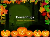 PowerPoint Template - a halloween themed background in multiple colors