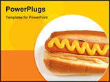 PowerPoint Template - hot dog with mustard