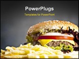 PowerPoint Template - Delicious hamburger with onion lettuce and tomato