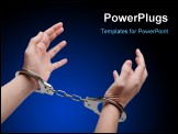 PowerPoint Template - Police law steel handcuffs arrest crime human hand