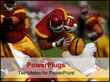 PowerPoint Template - fullback over for the touchdown