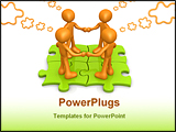 PowerPoint Template - Computer Generated Image - Team Thinking