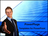 PowerPoint Template - Business man offering a handshake