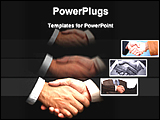 PowerPoint Template - business persons are shaking hands