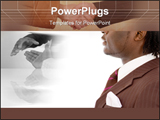 PowerPoint Template - his is an image of a businessman thinking of completing a deal in the distant future. This image ca