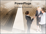 PowerPoint Template - Business people shaking hands making an agreement