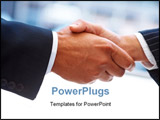 PowerPoint Template - Closeup of a business hand shake between two colleagues