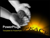 PowerPoint Template - The rock solid strength of God is held in a child hands.