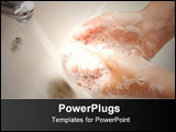 PowerPoint Template - woman washing hand under running Beautiful picture