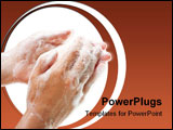 PowerPoint Template - Hygiene soap bar washing or cleaning human hand