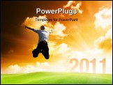 PowerPoint Template - happy new year 2011 on the garden of sunrise