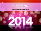 PowerPoint Template - 2012 Happy new year background with beautiful bokeh