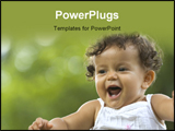 PowerPoint Template - a happy toddler in a tropical garden setting