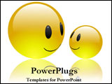 PowerPoint Template - Two smiling emoticons.