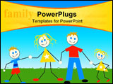 PowerPoint Template - cute family holding hands