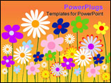 PowerPoint Template - Abstract floral background vector illustration please visit my portfolio for similar images