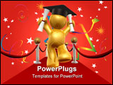 PowerPoint Template - Graduation day won the red carpet way 3d illustration