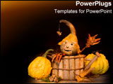 PowerPoint Template - Cheerful little Halloween creature.
