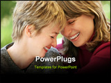 PowerPoint Template - Two women laughing together