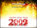 PowerPoint Template - grunge background with 2009 element for design - New Year background