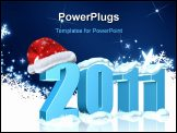 PowerPoint Template - New year 2011 date with Santa