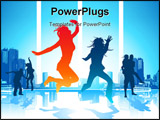 PowerPoint Template - Happy Jumping People See my gallery for more high quality illustrations and photography.