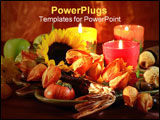 PowerPoint Template - Still life for autumn and Thanksgiving in warm tones