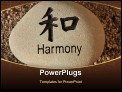 PowerPoint Template - Positive reinforcement word Harmony engrained in a rock