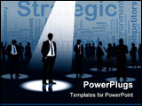 PowerPoint Template - Group of people and one man selected conceptual business illustration.