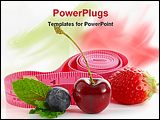 PowerPoint Template - Berries and tape measure on white background