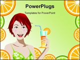 PowerPoint Template - of a woman holding orange juice